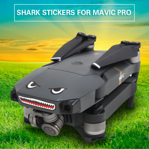 Sticker requin DJI MAVIC noir